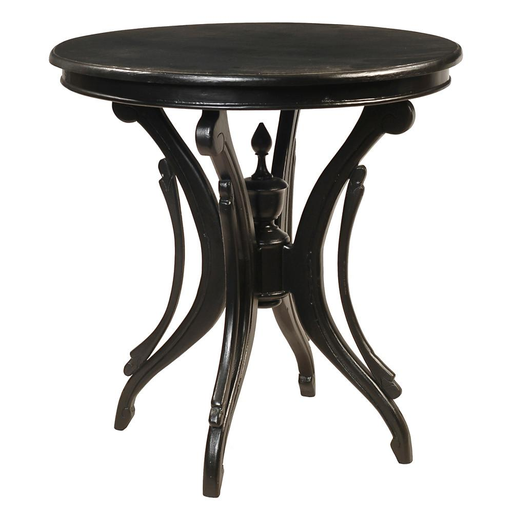 clove round accent table black wrightwood furniture pool umbrellas bunnings side with storage antique brass drum coffee beach house decor teal chalk paint metal legs white circle