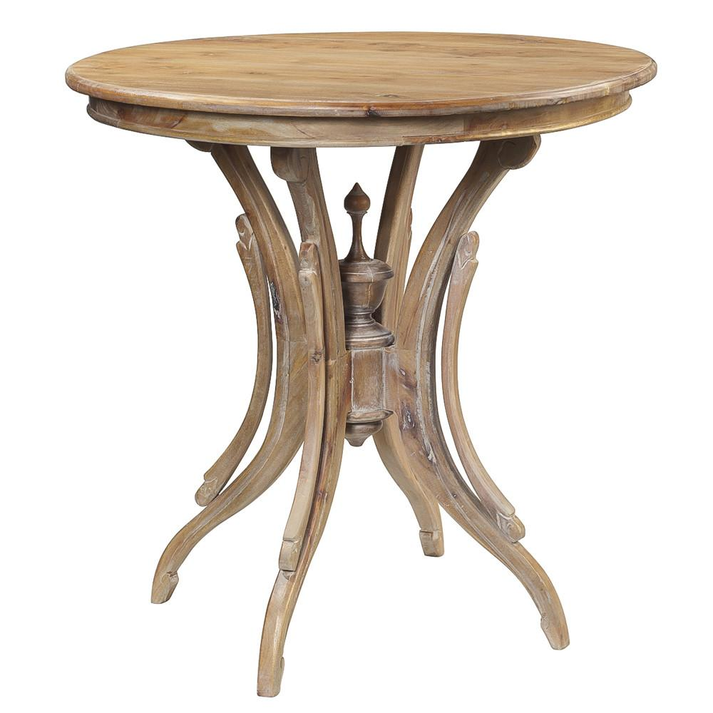 clove round accent table gray wash wrightwood furniture modern and contemporary pier one imports patio legs for pottery barn kids black iron bedside knotty pine bar stools