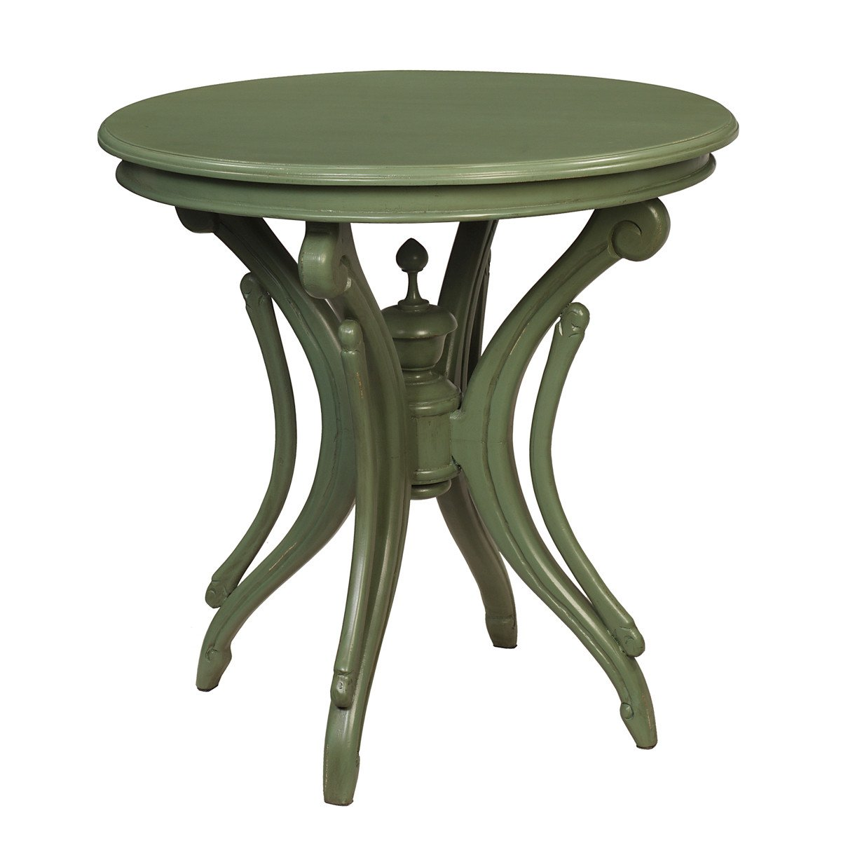 clove round accent table green bay wrightwood furniture cengkeh metal rustic gray coffee ethan allen windsor chairs grill cover inch high end cherry wood dining room patio cooler