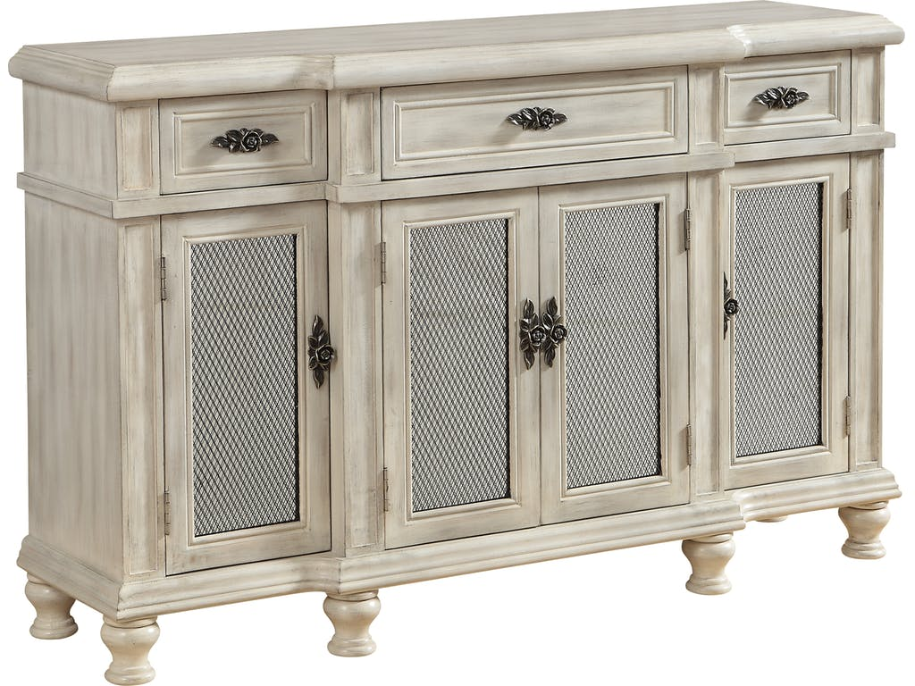 coast accents dining room drawer door credenza accent furniture rice rustic wine rack extendable table bar height chairs round top sitting side tables external threshold white and