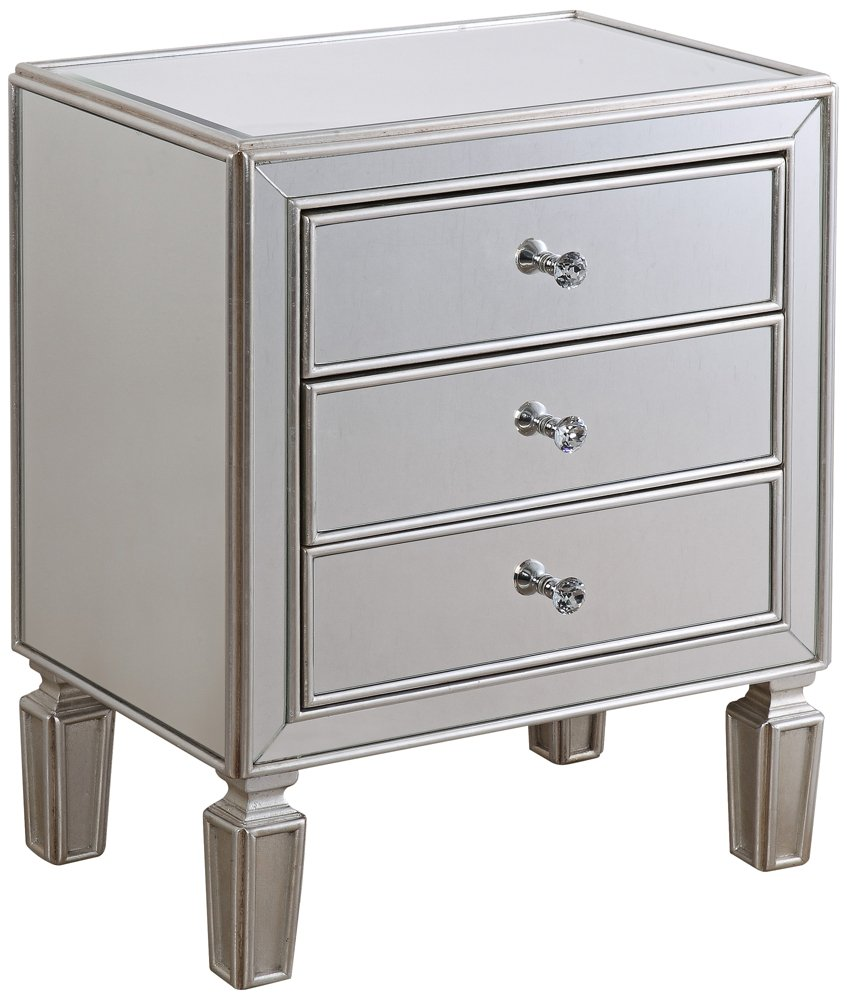 coast aneta hand painted silver leaf accent tables and cabinets table kitchen dining trunk furniture circle side brown bedside valencia with built lamp chest for entryway slim