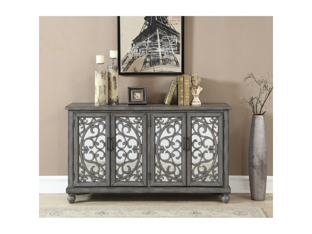 coast imports accents four door media products color threshold mirrored accent table accentsfour credenza round aluminum large kitchen clocks mini fridge end backyard wicker