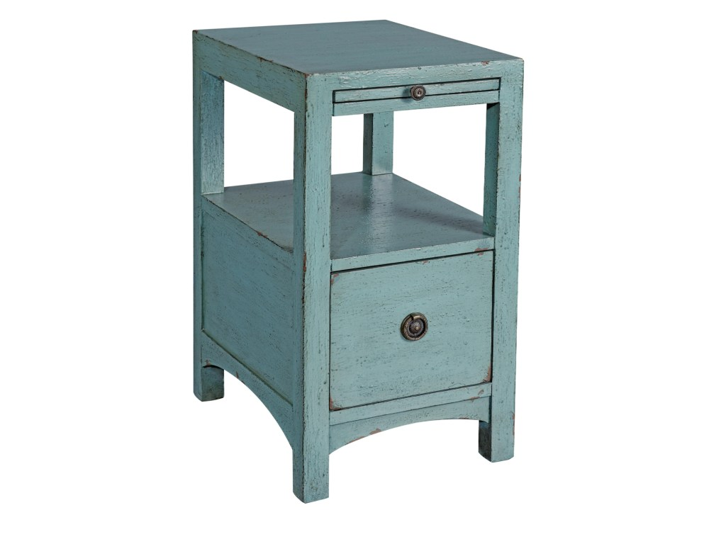 coast imports accents one drawer products color teal blue accent table accentsone clear plastic white drop leaf curtains target pier chairs console with shelves and drawers small