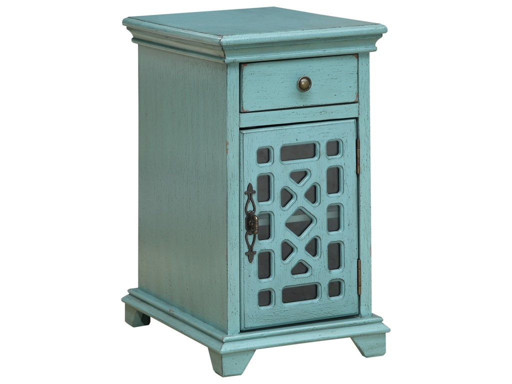 coast imports accents one drawer products color threshold fretwork accent table teal accentsone door chairside cabinet garden furniture chairs target console patio beer cooler