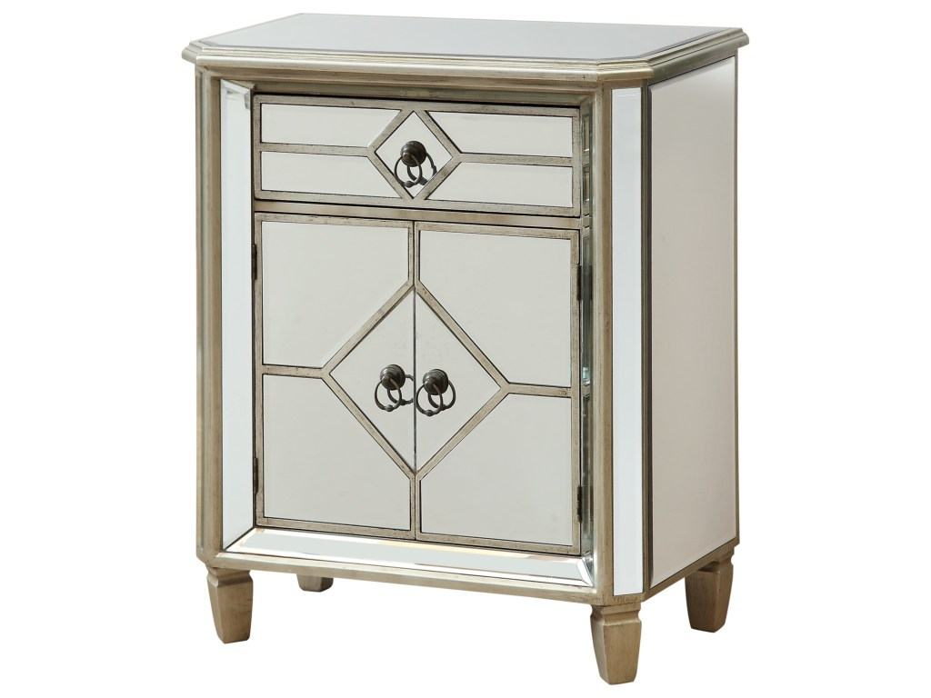 coast imports accents one drawer two door products color accent table cabinet round metal garden decoration pieces for drawing room portable grill small kitchen with bench dale