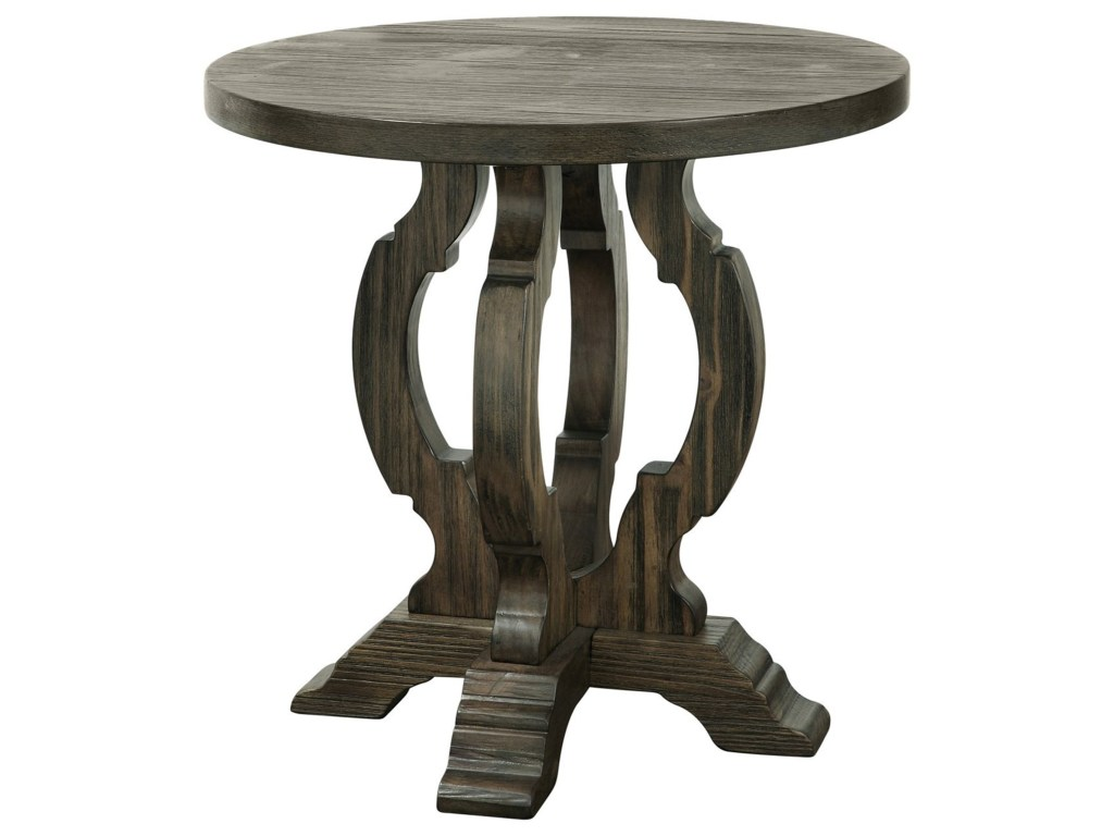 coast imports orchard park traditional round accent table products color new antique pedestal parkround gray end chairside with attached lamp comfortable chairs for small spaces