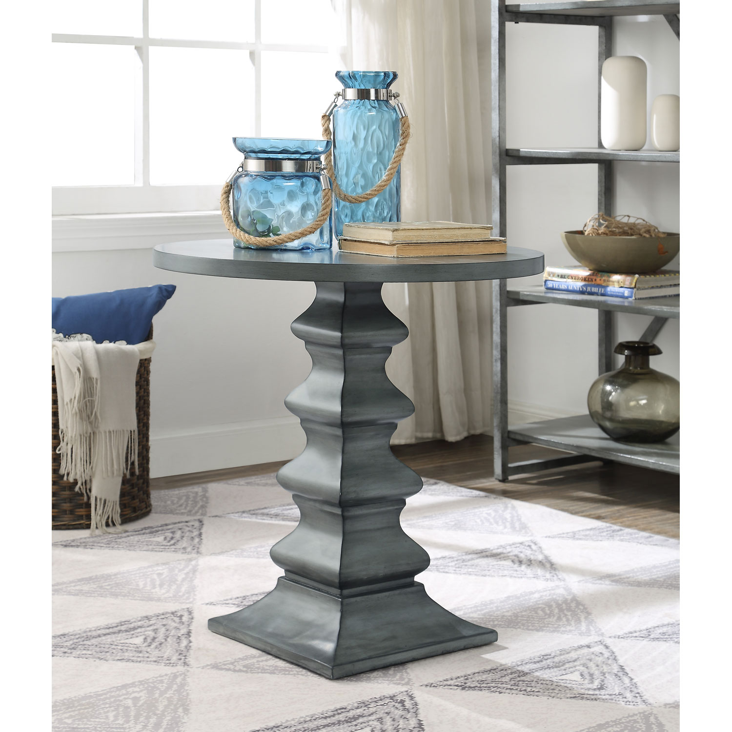 coast imports round accent table gray bellacor hover zoom foyer cabinet furniture kohls gift registry wedding retro sofa set mosaic garden desk lamps decor cabinets drawer end