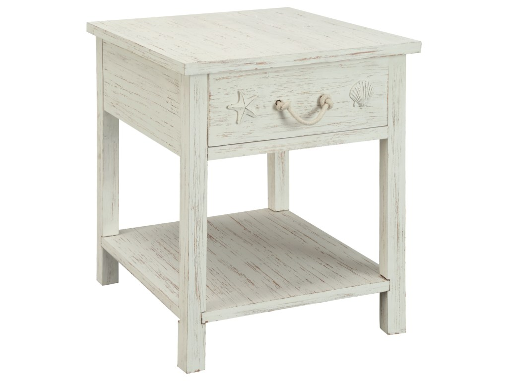 coast imports sanibel one drawer end table products color wood accent threshold sanibelsanibel cube tables living room high dining home design foot sofa small kitchen with chairs