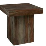 coast imports sheesham wash brown end table wood accent mosaic garden dining bayside funky wine racks boss furniture half round patio coffee cover home wall decor bar height 150x150