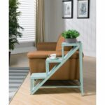 coast imports stair step accent table kimberely weathered blue hover zoom black glass end tables for small spaces retro bedroom chair west elm industrial coffee distressed red 150x150