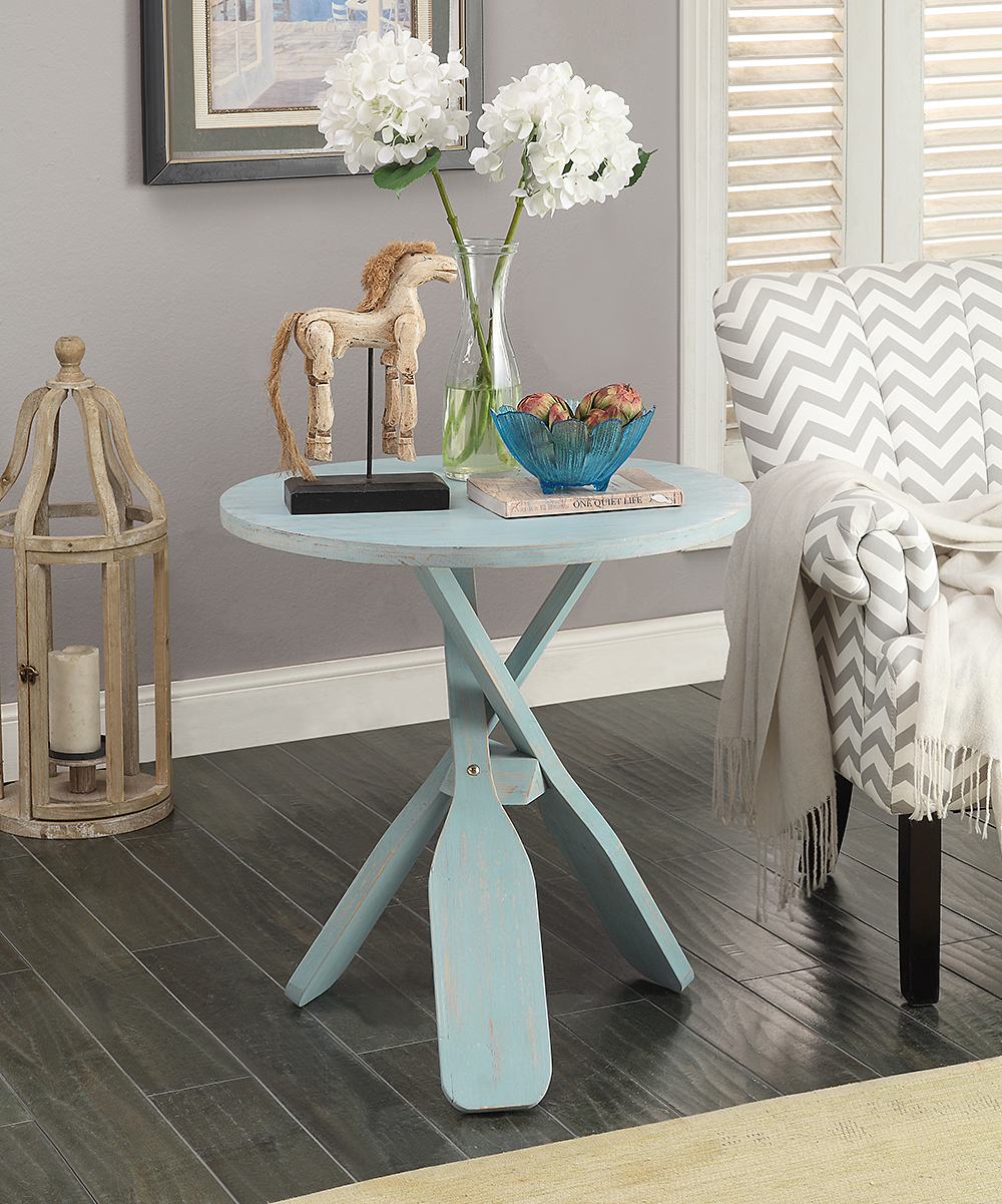 coast light blue oar accent table alt share large round linen tablecloths rustic white console ikea narrow end mohawk rugs threshold wood and metal dark bedside tables front room