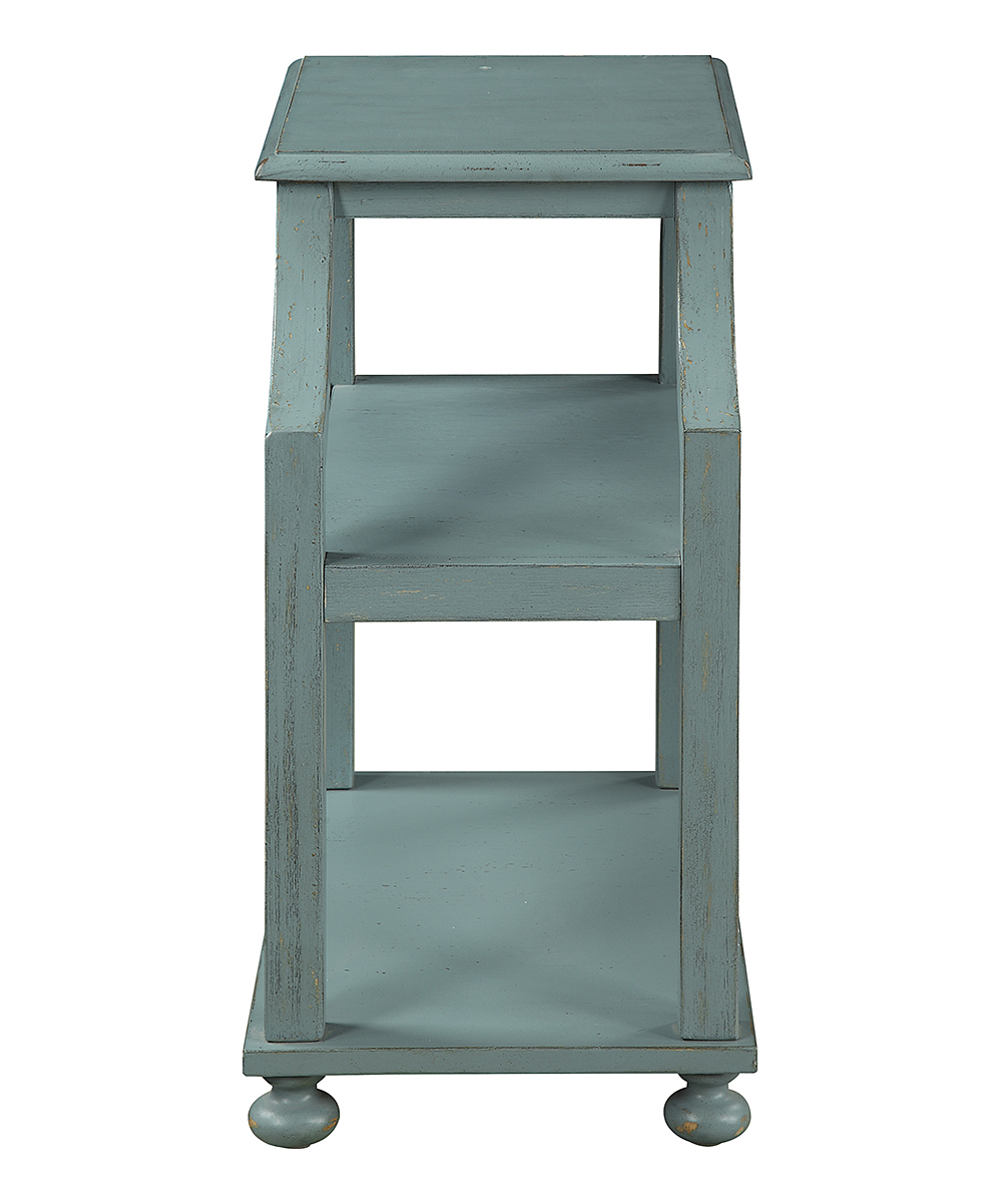coast light blue wood three tier accent table alt share mango chest drawers mohawk rugs outside patio furniture distressed ikea narrow end antique claw foot coffee flesner brushed