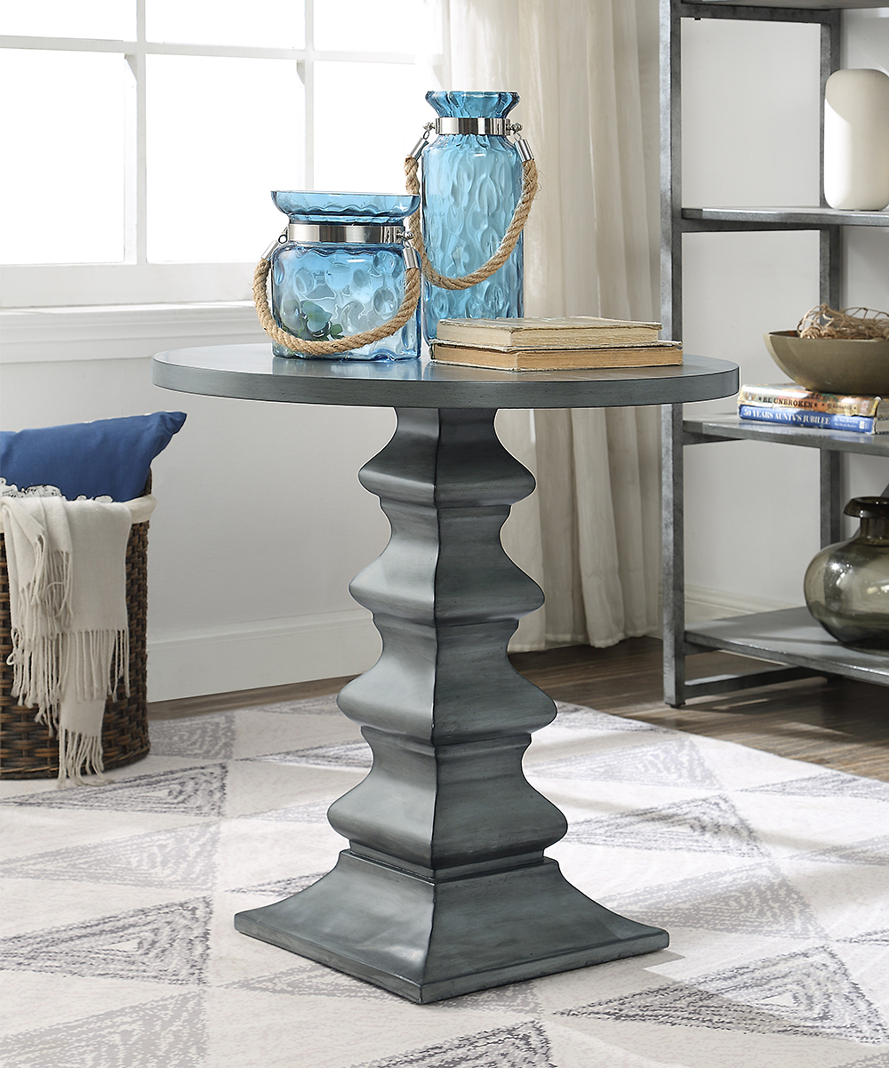 coast round accent table alt grey alternate small retro side drum throne base applique runner pier one cushions clearance triangle nightstand aqua blue over the couch outdoor