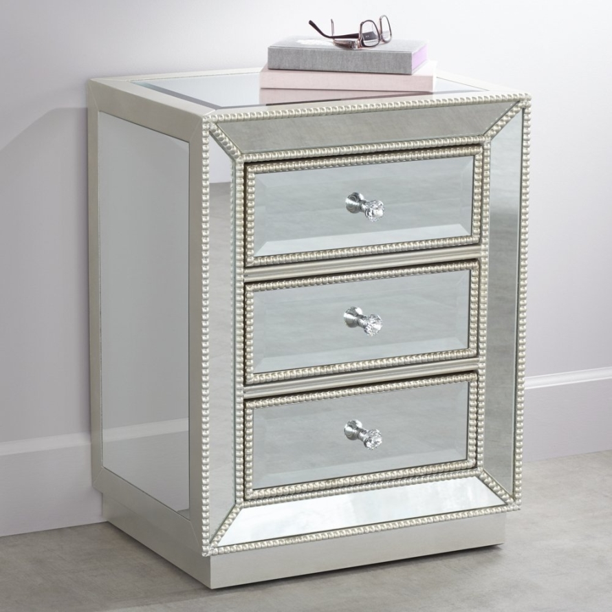 coast trevi wide drawer mirrored accent table three with antique silver finish and faceted glass pulls this helpful offers quality construction the right dose stylish flare mid