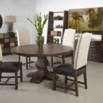 coast woodbridge dining room set with leather accent ctc table chairs hampton bay patio furniture replacement cushions high nightstand essentials brand big umbrella garden end 150x150