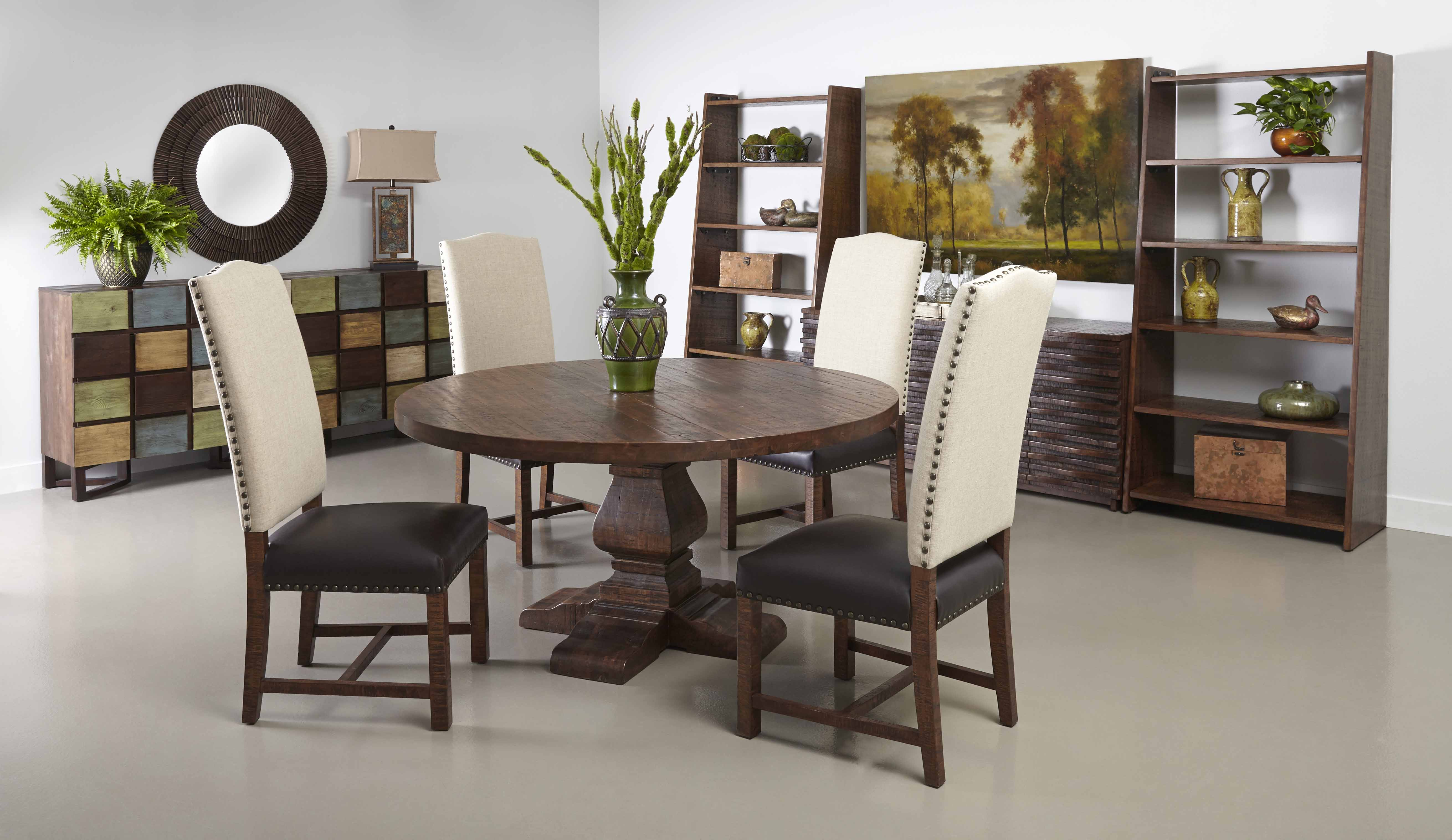 coast woodbridge dining room set with leather accent ctc table chairs hampton bay patio furniture replacement cushions high nightstand essentials brand big umbrella garden end
