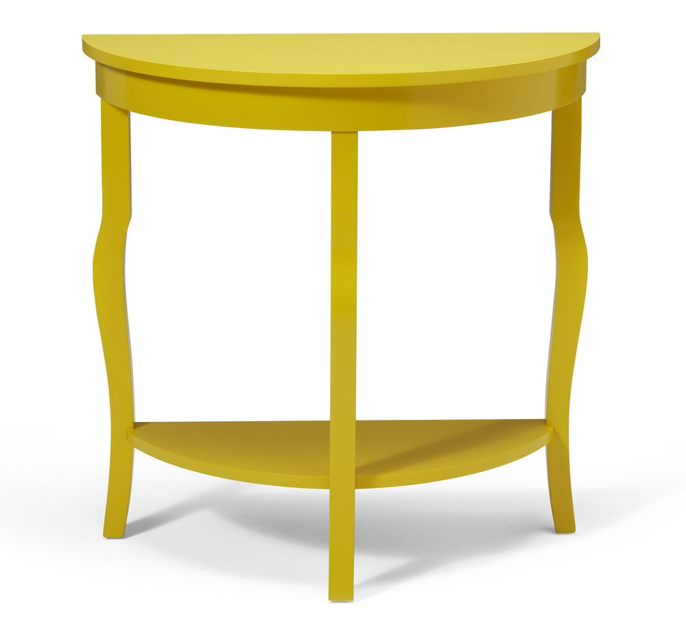 coastal console table yellow slim kate and laurel lillian wood half moon threshold windham accent beach umbrella pier lamps barn door entertainment center gallerie curtains glass