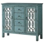 coaster accent cabinets antique blue table with inlay products color teal door design dunk bright furniture chests tread plates wooden thresholds drop leaf dining room garden 150x150