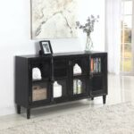 coaster accent cabinets black cabinet with glass doors table entry decor small side shelves tables toronto narrow iron purple furniture pottery barn frog drum set buffet rustic 150x150