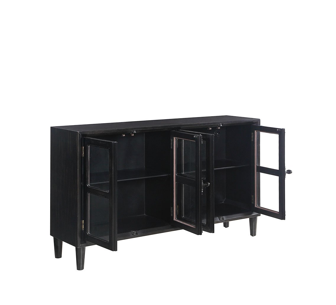coaster accent cabinets black cabinet with glass doors table high top outdoor set small side chairs for living room wine rack west elm owl lamp turquoise placemats and napkins bar