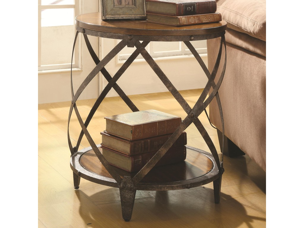 coaster accent cabinets contemporary metal table with products color tables drum shape dunk bright furniture end patio beverage cooler home design bathroom tub carpet edge strip