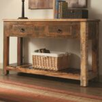 coaster accent cabinets rustic console table drawers prime products color with corner wine rack ocean decor sage green petrified wood side office furniture collections black lamp 150x150