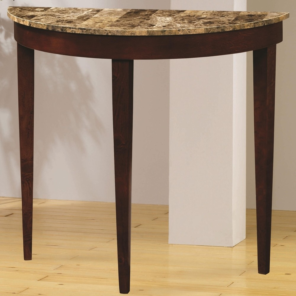 coaster accent entry table with faux marble top cherry side gold and glass end multi color coffee oval outdoor cream colored nightstand hampton bay furniture website white console