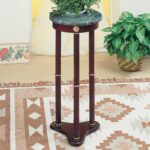 coaster accent stands green marble top round plant stand value products color table standsround timberline furniture chest cupboard outdoor storage cabinets with doors starfish 150x150