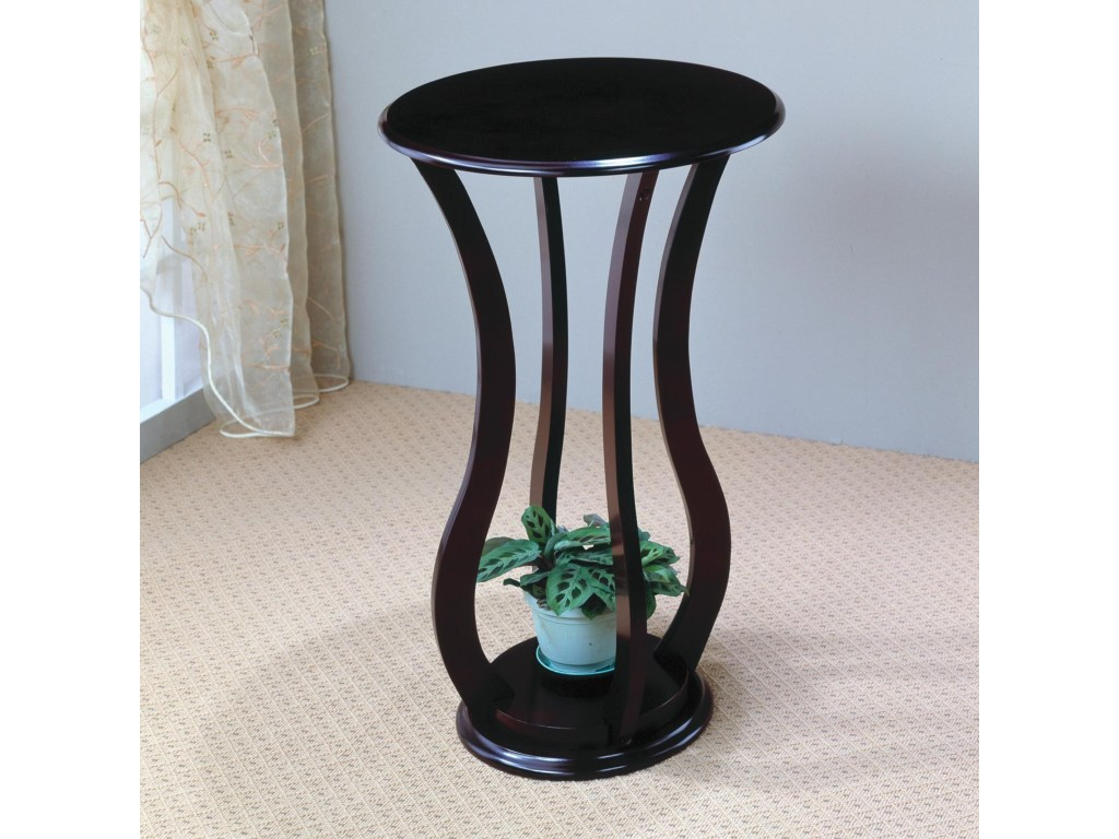 coaster accent stands round plant stand table value city furniture products color standsround ikea end with wheels white cube coffee concealment feature floor lamp pottery barn