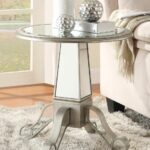 coaster accent table antique silver crafted with unique mirrored glass drawer base bedroom bedside tables baby changer small iron side ikea ott blue coffee narrow entryway 150x150
