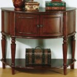coaster accent tables brown entry table with curved front inlay products color coas antique vanity furniture dining set corner wine rack dog grooming black piece living room west 150x150
