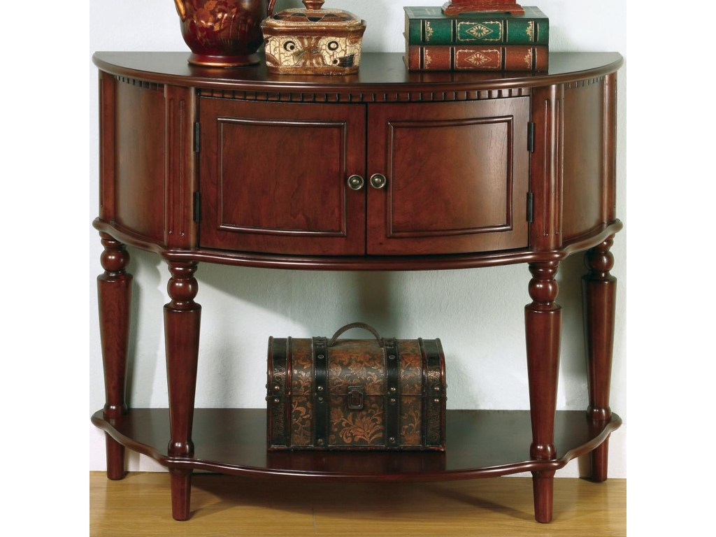 coaster accent tables brown entry table with curved front inlay products color coas shelf hand painted porcelain lamps glass stacking antique round lamp keter pacific cool bar