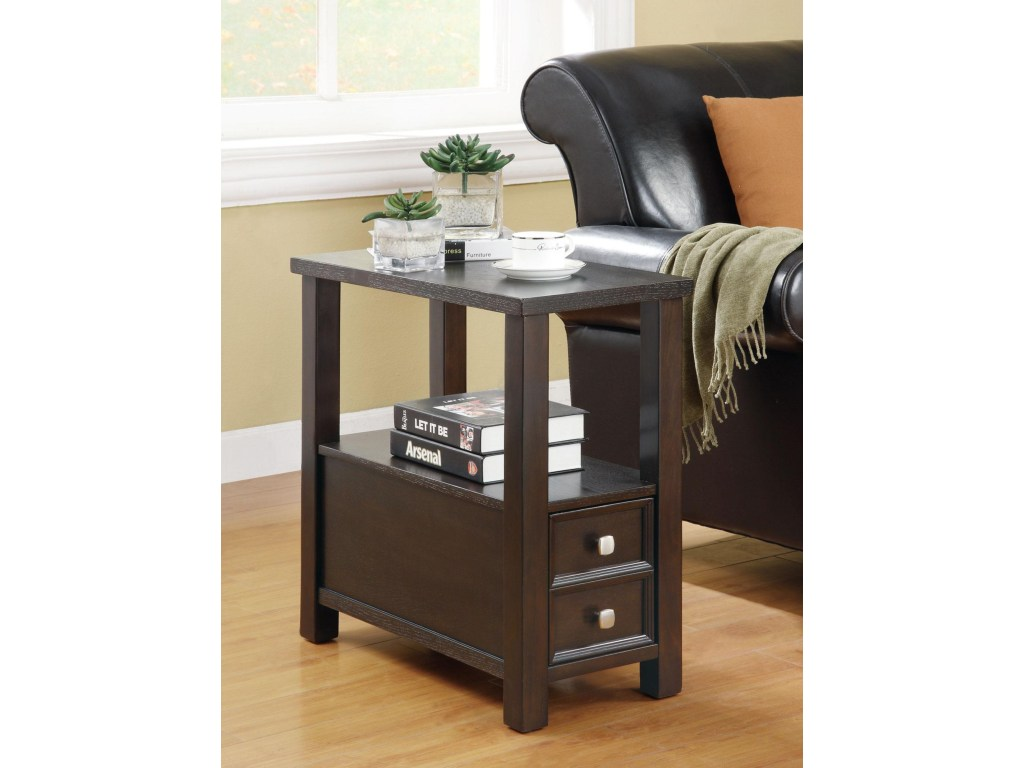 coaster accent tables casual drawer shelf chairside table products color coas tableschairside garden patio furniture flannel backed vinyl tablecloth butcher block kitchen bar