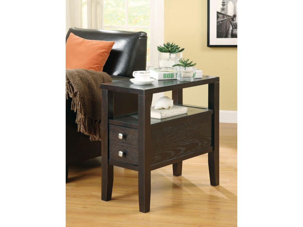 coaster accent tables casual storage chairside table sadler home products color coas wicker hollywood mirror cabinet sheesham wood furniture black round end drop leaf with drawer