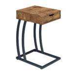 coaster accent tables chairside table with storage drawer and products color coas end patio umbrella stand clear lucite coffee steel dining legs sheet faux marble fitted vinyl nic 150x150