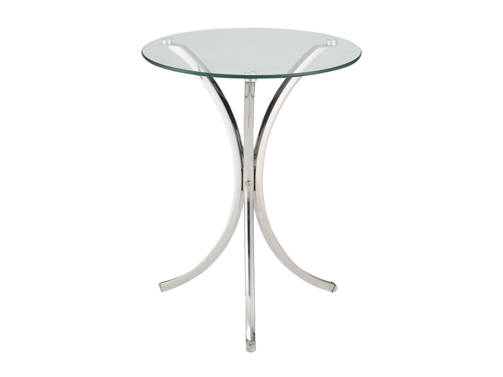 coaster accent tables clear tempered glass table sadler products color coas chrome metal console sofa with shelf tablesaccent plastic covers outdoor beverage cooler ikea white