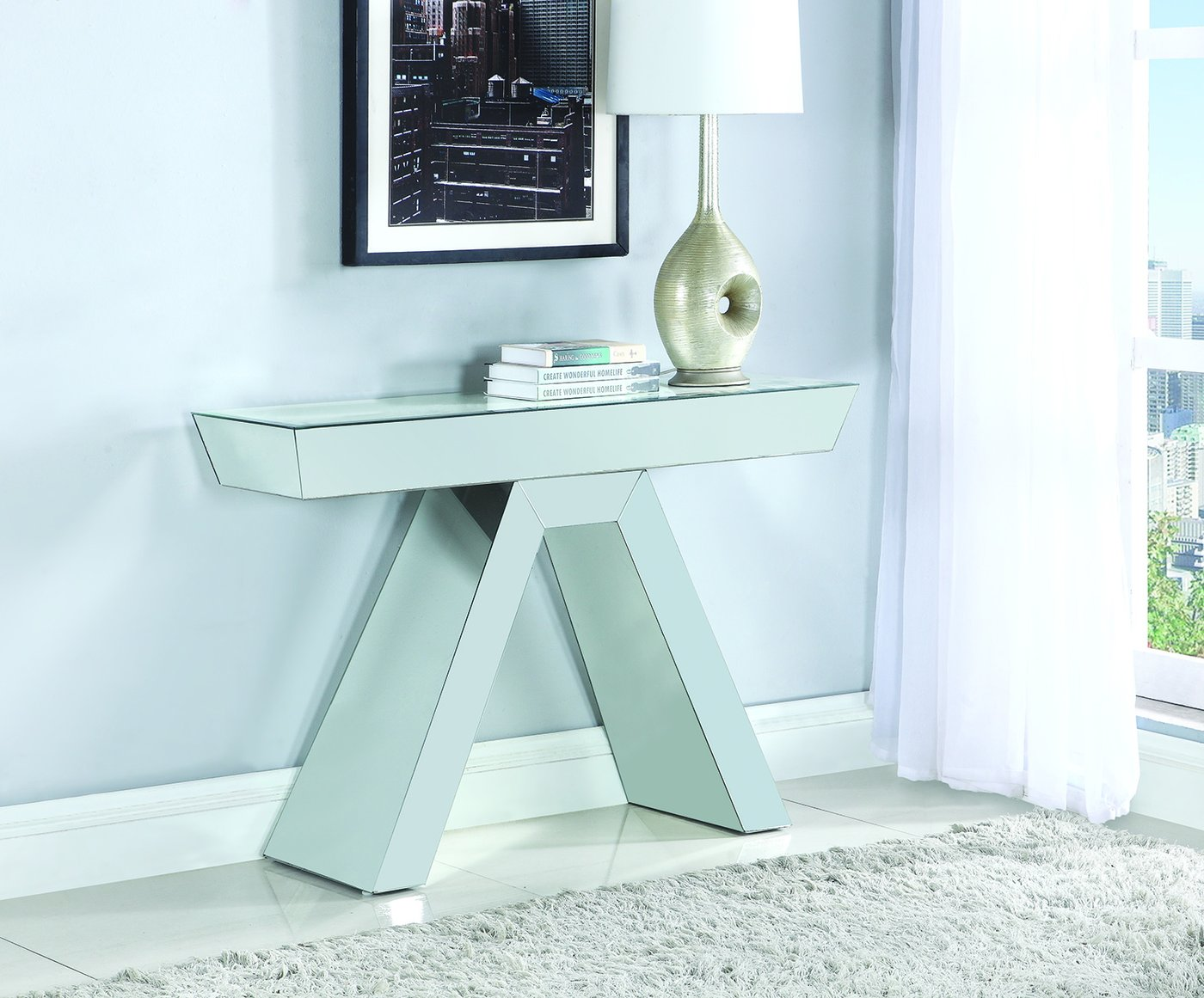 coaster accent tables contemporary mirrored console table dining sets clearance concrete top mix black drum white marble gold coffee long runners grills brass strip between carpet