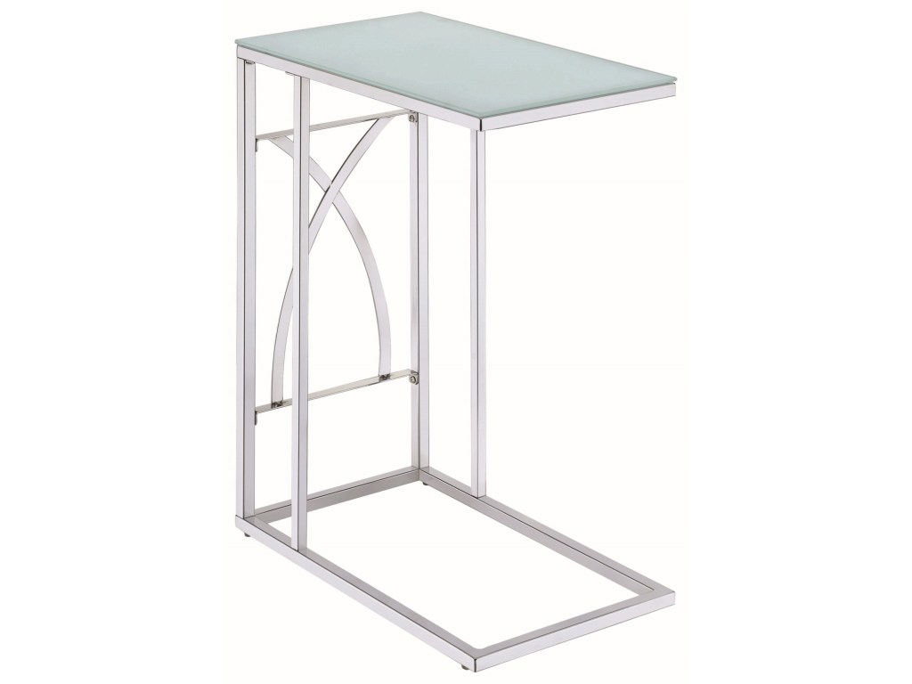 coaster accent tables contemporary snack table with glass top products color coas metal tablessnack small white round decorative cordless lamps tall portable grill end gallerie