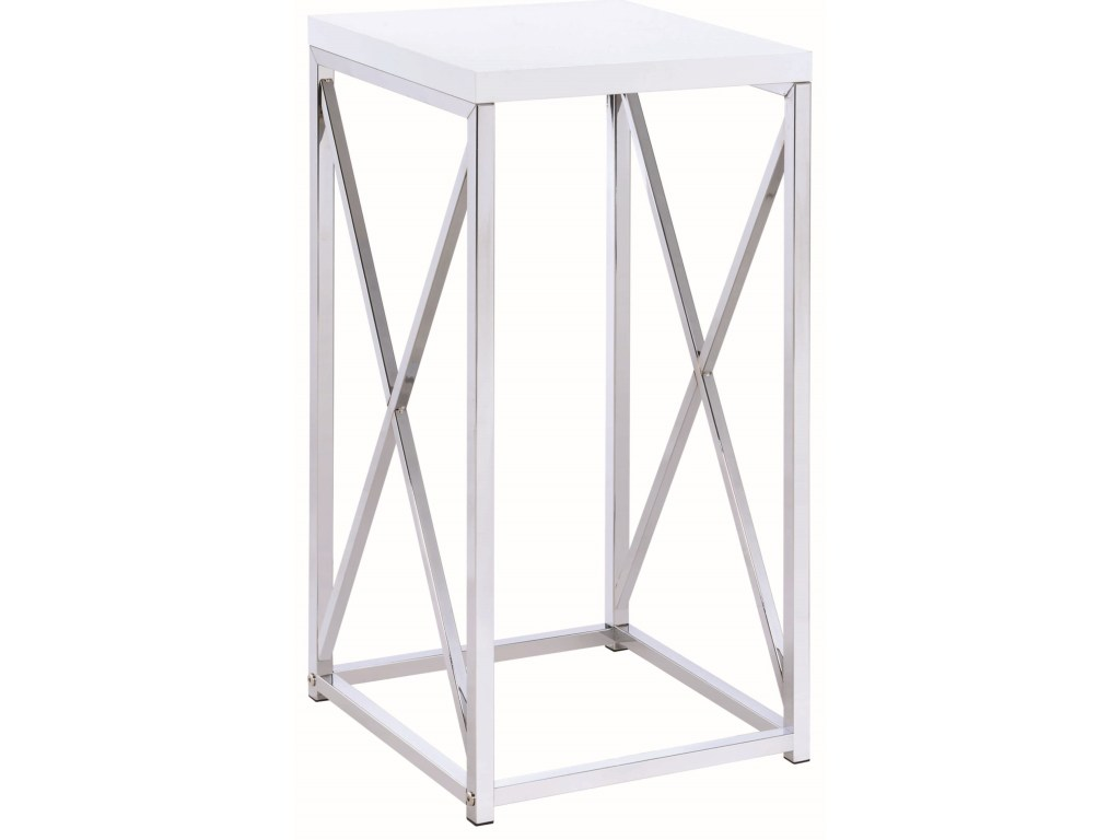 coaster accent tables contemporary table with base products color coas black pedestal dunk bright furniture end white console baskets room essentials stacking mirrored vintage