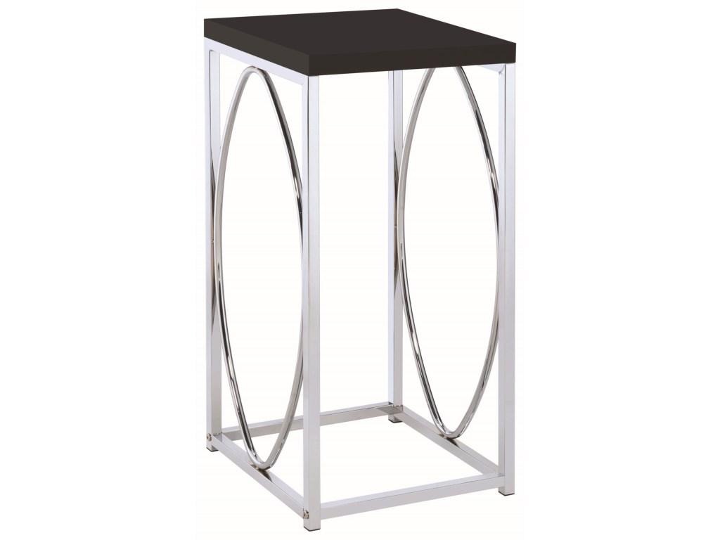 coaster accent tables contemporary table with black products color coas threshold white tablesaccent oval wall clock ashley furniture chairs console storage skinny side drawer