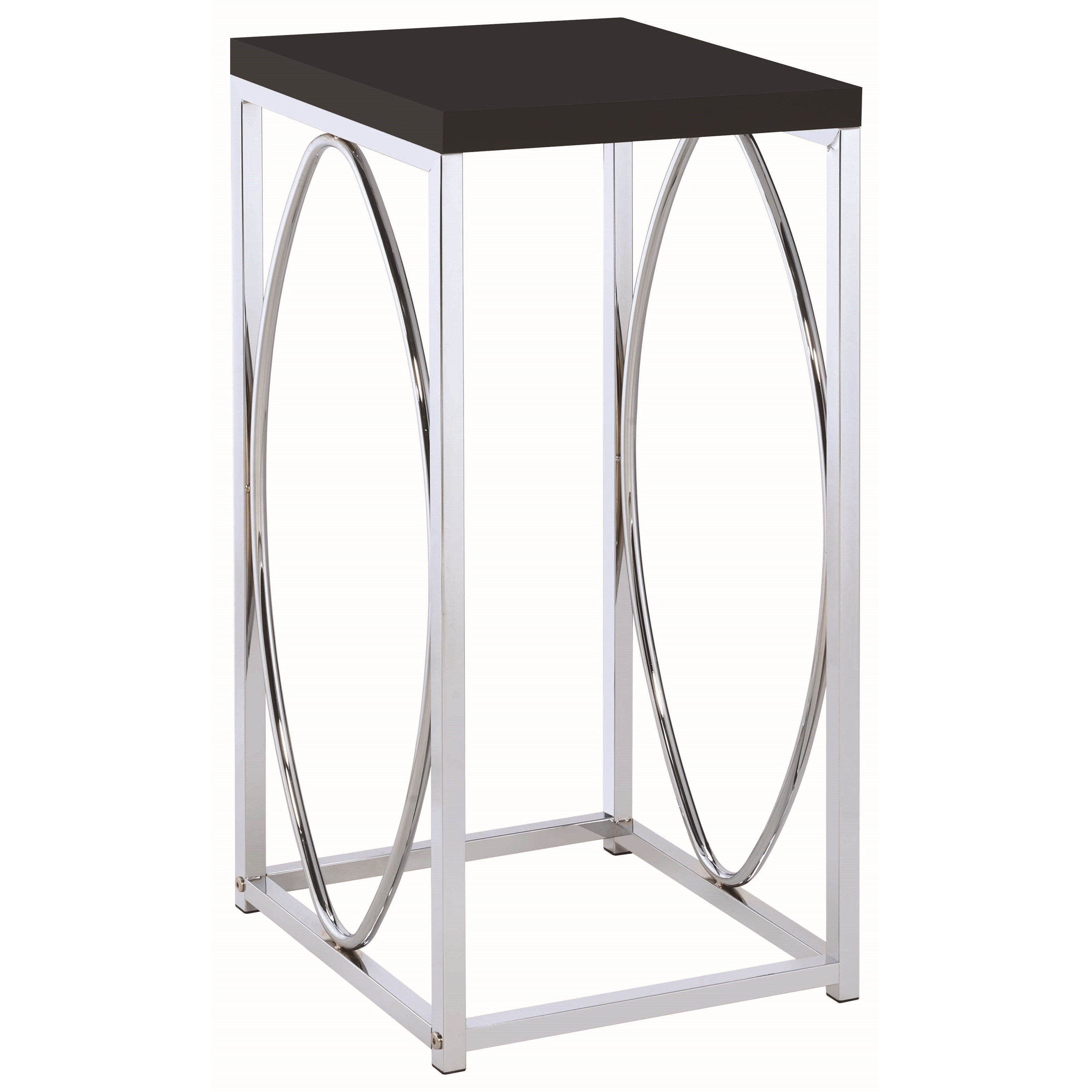 coaster accent tables contemporary table with black top products color coas elephant sculpture pier stools coffee and matching side ikea outdoor shelf orange lamp trestle kitchen