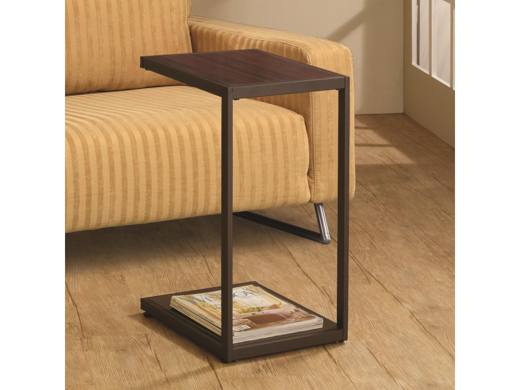 coaster accent tables dark brown rectangular snack table products color coas threshold battery powered led lamp target round mirror decorative home marble console white computer