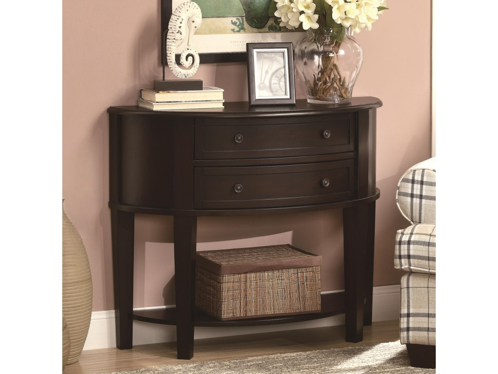 coaster accent tables demilune entry sofa table dunk products color coas kitchen tablecloth square nesting entryway bench white desk with drawers tall end beer cooler coffee side