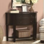 coaster accent tables demilune entry sofa table value city products color coas console with drawers tablesentry family room furniture clear acrylic petrified wood side pottery 150x150