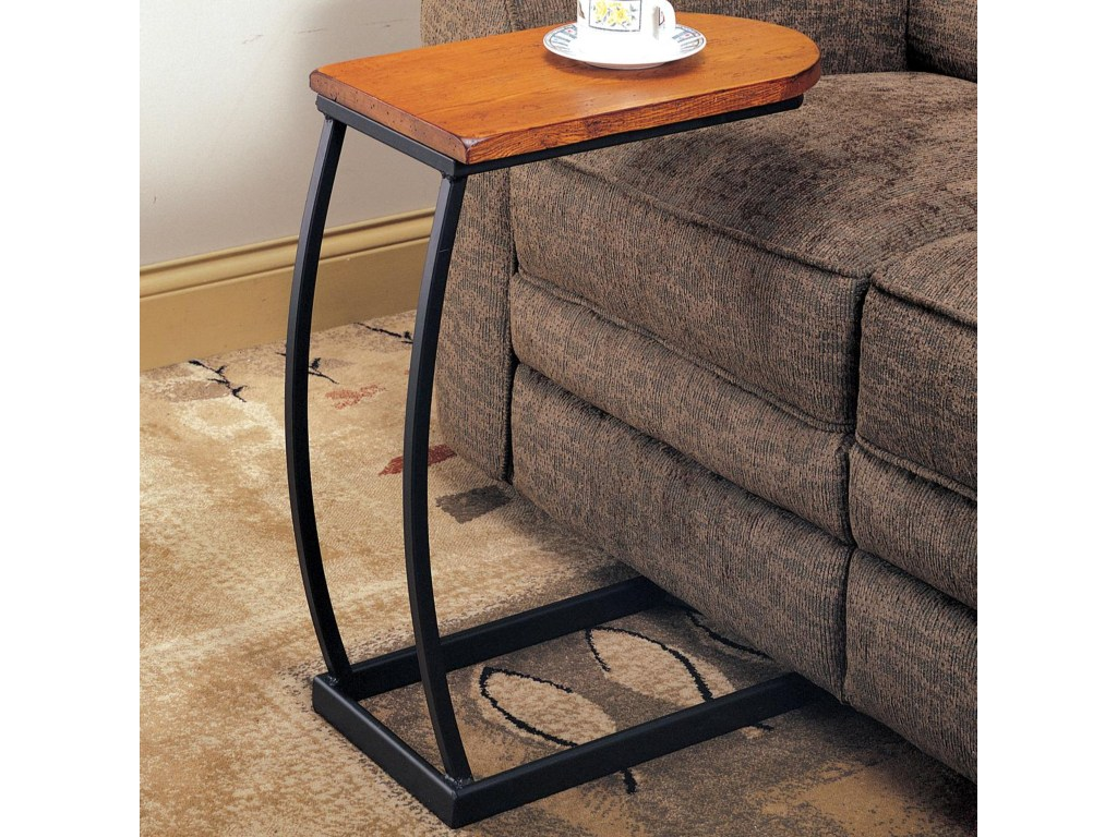 coaster accent tables distressed oak snack table with black products color coas metal base dunk bright furniture end garage threshold seal asian style solid wood coffee laminate