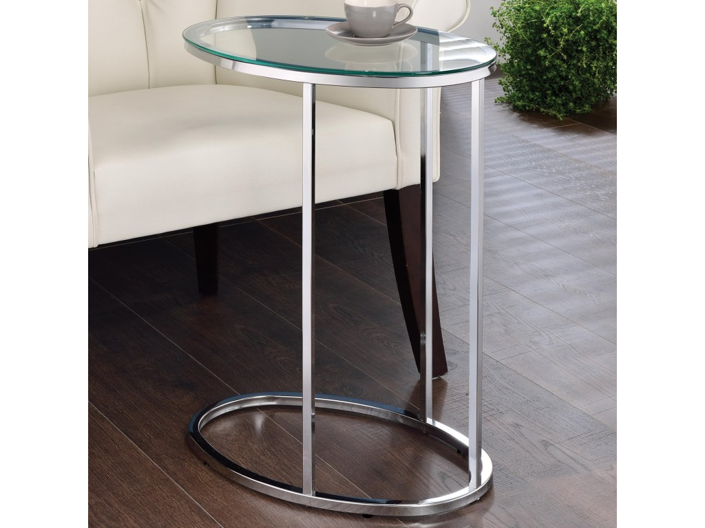 coaster accent tables glass top contemporary snack table value products color coas tablessnack home interior accessories black end with lamp attached trestle leg dining rustic