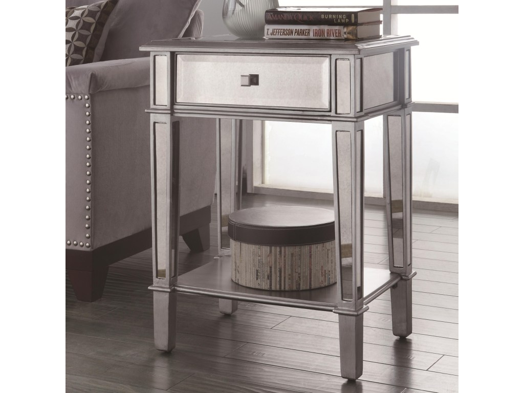 coaster accent tables hand painted table with mirrored products color coas metal tablesaccent furniture small for patio modern wood coffee nate berkus white entry large oriental