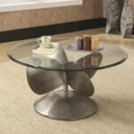 coaster accent tables industrial coffee table with propeller products color coas furniture tablescoffee glass top patio beverage tub stand rattan drinks cooler round marble chrome 150x150