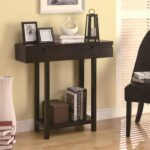 coaster accent tables modern entry table with lower shelf value products color coas brown european furniture black end lamp attached style lamps pottery barn pedestal side marble 150x150