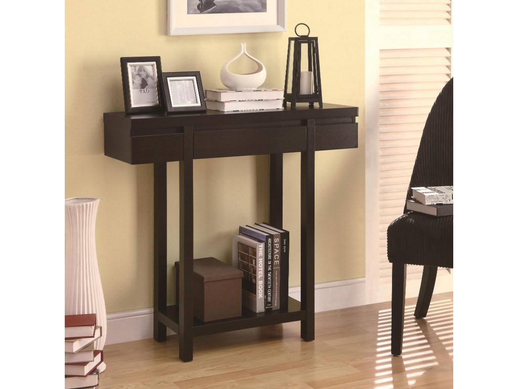 coaster accent tables modern entry table with lower shelf value products color coas furniture long narrow bar pier one imports coffee sofa console storage solid wood round end